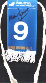 Mick Jones signed tag
